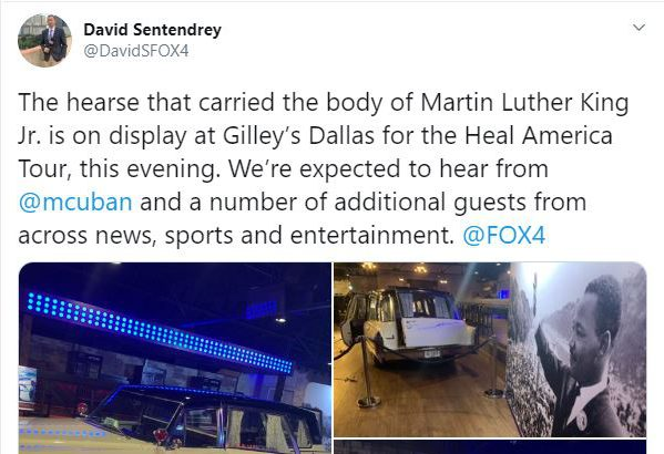 You are currently viewing Tweet from David Sentendrey – The hearse of Martin Luther King, Jr.