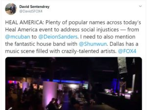 Tweet from David Sentendrey – Plenty of popular names this evening