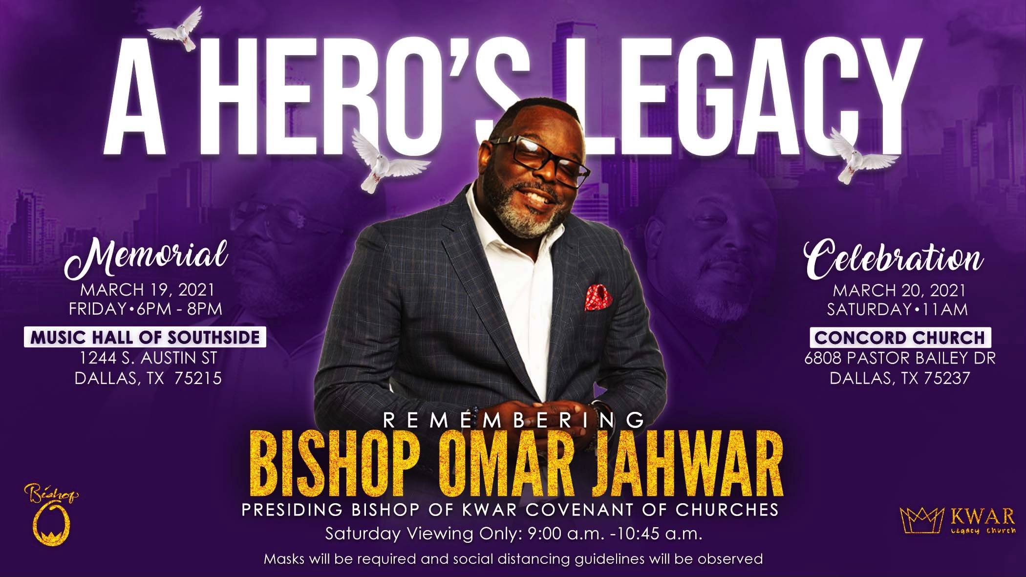 You are currently viewing Bishop Omar Jahwar Leaves Behind a Legacy of Love and Healing of Our Communities